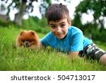 little beautiful boy with the... | Shutterstock . vector #504713017