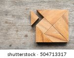 tangram puzzle wait for fulfill ... | Shutterstock . vector #504713317