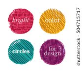 color textured circles for... | Shutterstock .eps vector #504715717