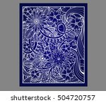 abstract cutout panel for laser ... | Shutterstock .eps vector #504720757