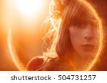 portrait of beautiful woman ... | Shutterstock . vector #504731257