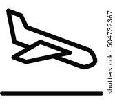 airplane landing icon | Shutterstock .eps vector #504732367