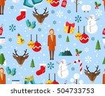 vector flat seamless texture... | Shutterstock .eps vector #504733753