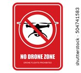 no drone zone restrictive sign  ... | Shutterstock .eps vector #504741583