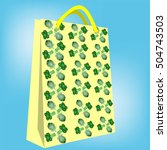 bag for shopping broccoli and... | Shutterstock .eps vector #504743503