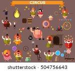 Circus Flat Vector...