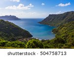 view of the ocean bay on the... | Shutterstock . vector #504758713