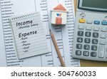 planning monthly income and... | Shutterstock . vector #504760033