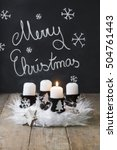 white advent wreath with...   Shutterstock . vector #504761443
