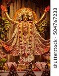 Small photo of Mayapur - March 16, 2016: Lord Caitany - golden Avatar, during Gaura Purnima festival in Mayapur