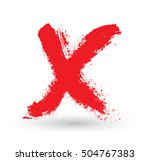 vector hand drawn x mark.grunge ... | Shutterstock .eps vector #504767383