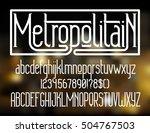 metropolitain   modern thin...   Shutterstock .eps vector #504767503