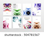 geometric background template... | Shutterstock .eps vector #504781567