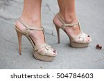 street style shoes | Shutterstock . vector #504784603