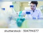 asian scientist  in the...   Shutterstock . vector #504794377