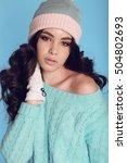 fashion studio photo of... | Shutterstock . vector #504802693