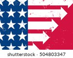 america moving forward a... | Shutterstock .eps vector #504803347