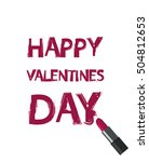 happy valentines day concept.... | Shutterstock .eps vector #504812653