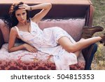 fashion outdoor photo of...   Shutterstock . vector #504815353