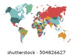 world map countries. world map... | Shutterstock .eps vector #504826627