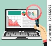 web analytics information and... | Shutterstock .eps vector #504832033
