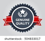 high quality badge. genuine... | Shutterstock .eps vector #504833017