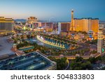 Stock photo aerial view of las vegas strip in nevada as seen at night usa 504833803