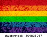 rainbow gay pride flag. lgbt... | Shutterstock .eps vector #504835057