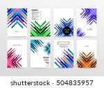 geometric background template... | Shutterstock .eps vector #504835957