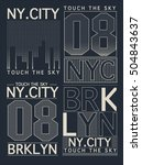 typography  t shirt graphic ... | Shutterstock .eps vector #504843637