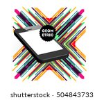 mobile phone icon with trendy... | Shutterstock .eps vector #504843733