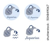 aquarius cartoon character set. ... | Shutterstock .eps vector #504849067