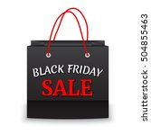 black friday sale and paper bag ...   Shutterstock .eps vector #504855463