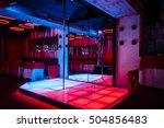 night club interior with pole... | Shutterstock . vector #504856483