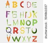 food alphabet made of... | Shutterstock . vector #504861037