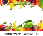 healthy food  fruits and... | Shutterstock . vector #504864247