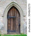 An Old English Church Door