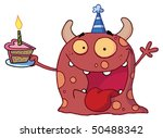 birthday monster wearing a...