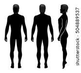 fashion man full length... | Shutterstock .eps vector #504889537