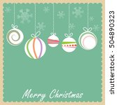vintage christmas card in... | Shutterstock . vector #504890323