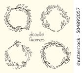 hand drawn set of the vector... | Shutterstock .eps vector #504892057
