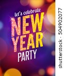 lets celebrate new year party... | Shutterstock .eps vector #504902077