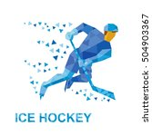 winter sports   ice hockey.... | Shutterstock .eps vector #504903367