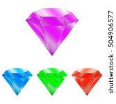 diamonds isolated on white... | Shutterstock .eps vector #504906577