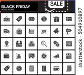 black friday sale vector icons... | Shutterstock .eps vector #504910897