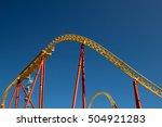 the roller coaster attraction... | Shutterstock . vector #504921283