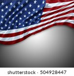 closeup of american flag on... | Shutterstock . vector #504928447