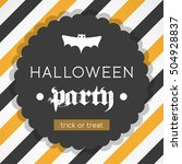 halloween party invitation.... | Shutterstock .eps vector #504928837