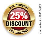 red 25 percent discount button  ... | Shutterstock .eps vector #504934927
