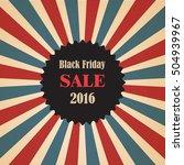 black friday sale banner ... | Shutterstock .eps vector #504939967